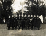 Photograph of the Mills Seminary basketball team