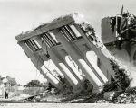 Demolition of Coronado High School, c. 1960.
