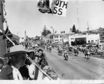Pioneer Day Parade in downtown Banning, California looking east down Ramsey Street