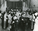 Sheriff's Reserve Dance held in a quonset hut on the Banning Naval Hospital Grounds in Banning, California