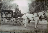 A Banning Undertaking Company horse-drawn hearse in Banning, California