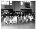 Los Cerritos School class visit to Southern Pacific Railroad Station, South San Francisco