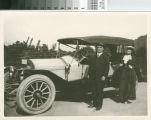 Mr. & Mrs. L.C. Brand, circa 1910, national automobile