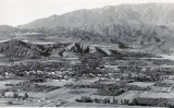 Panorama of Banning looking north towards the Banning Water Canyon in the 1940s