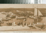 Postcard of the South Bay Yacht Club Basin, Alviso, Cal.