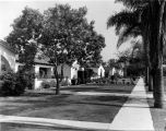 Spanish style houses in Inglewood, California
