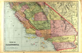 Southern Half California; Map, publisher unknown, c.1901