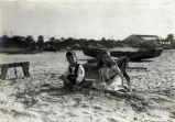 Children on Coronado beach c. 1916.