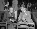 Photograph of Jascha Heifetz and Vladimir Horowitz