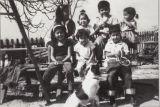 Razo and Talaugon Kids at Magdalena Razo's House, 6887 San Fernando Avenue in La Conchita, CA.