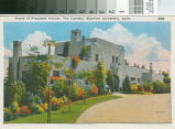 Postcard of the Home of President Hoover at Stanford University