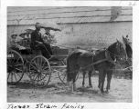 Photograph of Thomas Strain and family sitting buggy