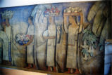 "The 1938 Alfredo Ramos Martinez fresco mural ""El Dia del Mercado"" at the Nathan Zakheim studio after initial cleaning, July 2003 (photo 1)"