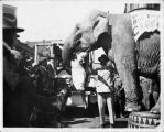 Rudy and Anna Muller With Rosie the elephant