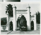Miradero gate with car