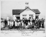 The Murray Street School with pupils and teachers in Banning, California