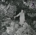 Woman at Giurlani House garden