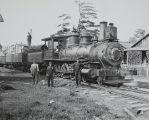 Santa Fe Train engine and crew