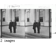 Ramsay MacDonald and Pres. Hoover at the Entrance of White House, Wash., D.C.