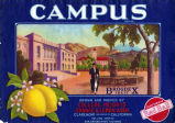 "Crate label, ""Campus Brand."" College Heights Orange & Lemon Assn."