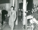 Les Brown and his Band of Renown at the Banning Theatre during Bob Hope radio broadcast