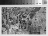 High line for lowering mortar down into canyons for capping type # 2 dams : Brand Park Project, Brand Park SP-30, Glendale, California, October 1935