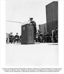 Commencement, Chancellor Emil Mrak at podium