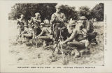 Infantry men with new .81mm Stokes trench mortar