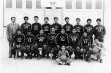 Photograph of Gualberto J. Valadez and the La Jolla Junior High Basketball Team.