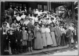 Photograph of group excursion on the Balloon Route Trolley excursion.