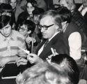 Ray Bradbury with students