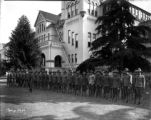 Recruits in Formation in Front of Fresno High School