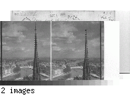 Paris and the Seine - S. E. from Notre Dame. Paris.