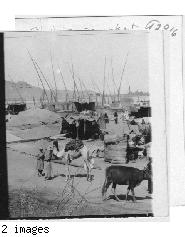 A grain market along the Nile Egypt.