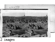"""View of a """"Bee-hive"""""""" Village of the Arabs, Mesopotamia."""