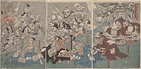 Minamoto no Raikō kō-kan tsuchigumo yōkai o tsuuru zu
