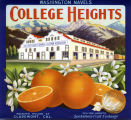 "Crate label, ""College Heights."" Washington Navels."