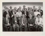 Photograph of group being rewarded for years of service to the university