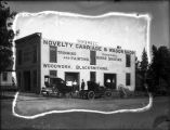 Upland Photograph Business; Exterior of H. N. Sholl Novelty Carriage & Wagon Shop / Edna Swan