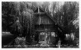 Boat House and Lake at Lucky Baldwin's Ranch, Santa Anita, Cal.