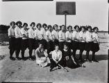 Mary A. Smart photograph of the Garden Grove High School girls indoor baseball team