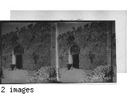 Gate of Zion near the Tomb of David, Jerusalem, Palestine.