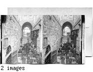 Via Dolorosa - Jerusalem - Pilgrims at Station. Palestine.