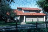 [Madrid del Lago model home exterior, plan 740, Santa Paula slide].