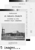 [Dedication St. Kilian's Church, October 22, 1972, Mission Viejo, California program].