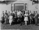 Early orchestra organized by Mrs Carl Seamans.