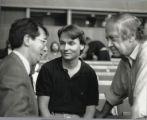 Gerard Mortier, Esa-Pekka Salonen, and Ernest Fleischmann at Salzburg Festival, Austria
