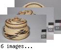 Hupa, Karok, or Yurok trinket basket with lid