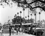 Bussing during summer school, Inglewood, California