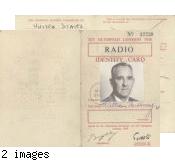 Radio identity card, Games of the XIV Olympiad, London